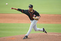 Delmarva Shorebirds starting pitcher Josh Walker (31) delivers a pitch to the plate against the Kannapolis Intimidators at CMC-Northeast Stadium on June 7, 2015 in Kannapolis, North Carolina.  The Shorebirds defeated the Intimidators 9-1.  (Brian Westerholt/Four Seam Images)
