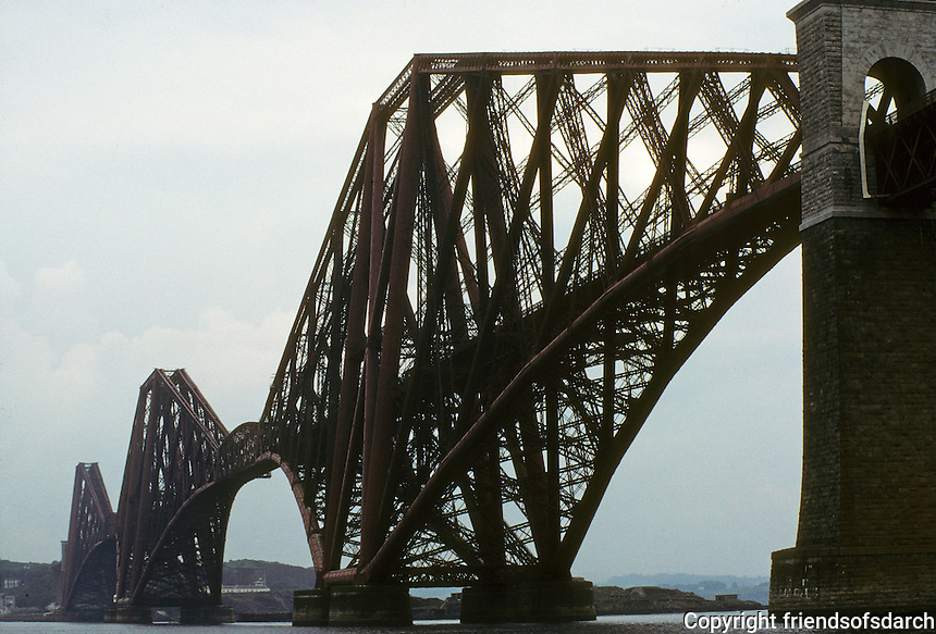 Technology: Scotland--Firth of Forth Railway Bridge, 1881-1890. Sir John Fowler and Sir Benjamin Baker. Photo '90.