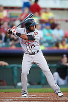 Richmond Flying Squirrels left fielder Darren Ford (15) at bat during a game against the Erie SeaWolves on August 22, 2016 at Jerry Uht Park in Erie, Pennsylvania.  Erie defeated Richmond 4-2.  (Mike Janes/Four Seam Images)
