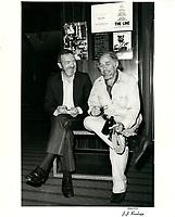 Le realisateur Harry Rasky au Festival des films du monde 1981 (date exacte inconnue)<br /> <br /> PHOTO : Agence Quebec Presse <br /> <br /> <br /> <br /> <br /> <br /> PHOTO :   Agence Quebec Presse
