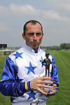 11 June 05: Reliable Man (no. 13), ridden by Gerald Mosse and trained by A. de Royer Dupré, wins the group 1 Prix du Jockey Club  at Chantilly Racecourse  France. (Jean-Philippe Debargue/Eclipse Sportswire)