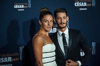 Pierre Niney et sa femme ‡ la 42e CÈrÈmonie des CÈsars ‡ l'arrivÈe sur le tapis rouge de la salle Pleyel ‡ Paris le 24 fÈvrier 2017