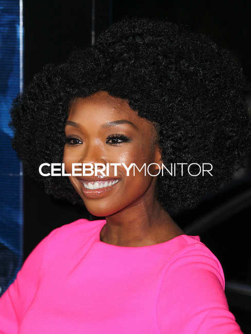 """LOS ANGELES, CA, USA - APRIL 16: Singer Brandy Norwood arrives at the Los Angeles Premiere Of Open Road Films' """"A Haunted House 2"""" held at Regal Cinemas L.A. Live on April 16, 2014 in Los Angeles, California, United States. (Photo by Xavier Collin/Celebrity Monitor)"""