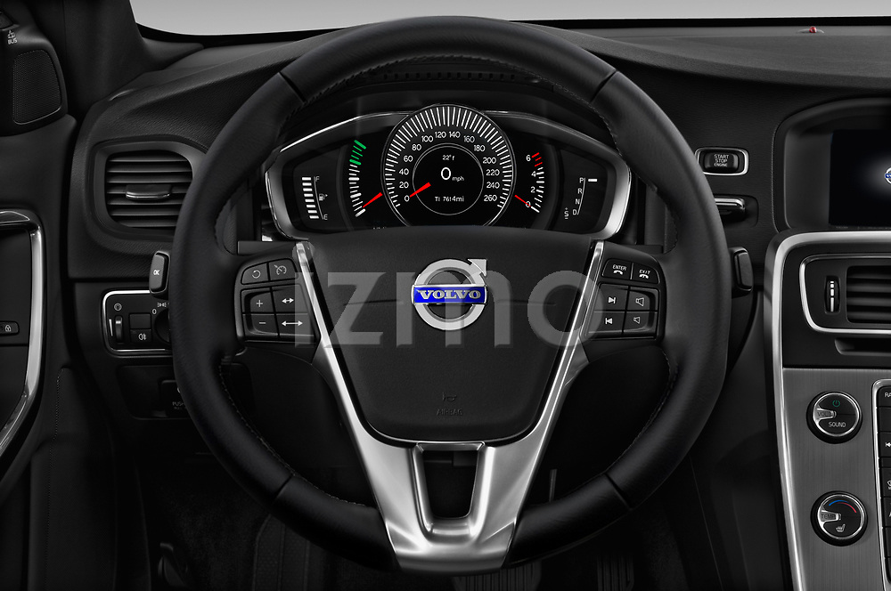 Car pictures of steering wheel view of a 2018 Volvo S60 T5 4 Door Sedan Steering Wheel