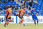 Brisbane Roar Forward Manuel Arana Rodriguez (C) fights for the ball with Ulsan Hyundai Midfielder Dimitrios Petratos(R) during the AFC Champions League 2017 Group E match between Ulsan Hyundai FC (KOR) vs Brisbane Roar (AUS) at the Ulsan Munsu Football Stadium on 28 February 2017 in Ulsan, South Korea. Photo by Victor Fraile / Power Sport Images
