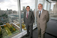 Montreal (Qc) Canada - August 2011 -Creation of the Chaire en oncologie ORL Dr Azar / Angelil <br /> <br /> Photo : Agence Quebec Presse.