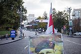 Gruschewska Straße in Kiew ca. eine Jahr nach den Protesten /  Hrushevkaja Street in Kiew about one year after the protests