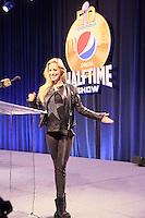 SAT1 Moderatorin Andrea Kaiser bei der NFL Halftime Show Pressekonferenz mit der Band Coldplay - Super Bowl 50 Halbzeitshow PK, Moscone Center San Francisco