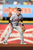 Jupiter Hammerheads shortstop J.T. Riddle (5) during a game against the Bradenton Marauders on April 17, 2015 at McKechnie Field in Bradenton, Florida.  Bradenton defeated Jupiter 11-6.  (Mike Janes/Four Seam Images)