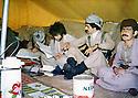 Iraq 1980 .Peshmergas in an office in Toujala   .Irak 1980 .Peshmergas dans un bureau a Toujala