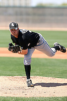 Justin Edwards of the Chicago White Sox plays in a minor league spring training game against the Cleveland Indians at the White Sox complex on March 24, 2011 in Glendale, Arizona. .Photo by:  Bill Mitchell/Four Seam Images.