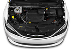 Car Stock 2020 Chrysler Voyager LX 5 Door Minivan Engine  high angle detail view