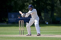 Bilal Patel in batting action for  during Wanstead and Snaresbrook CC vs Harold Wood CC, Hamro Foundation Essex League Cricket at Overton Drive on 17th July 2021