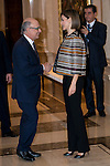 Cristobal Montor, Minister of Finance and Public Administration shake hands with Queen Letizia of Spain attends to the council meeting of the Royal Board on Disability at Zarzuela Palace in Madrid, October 05, 2015.<br /> (ALTERPHOTOS/BorjaB.Hojas)