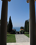 A view out to sea from the home of famous Croation sculptor Ivan <br /> Mestrovic.