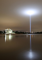 WASHINGTON, DC - SEPTEMBER 11: 9/11 'Towers of Light' tribute at the Pentagon in Washington, D.C. on September 11, 2020. <br /> CAP/MPI34<br /> ©MPI34/Capital Pictures