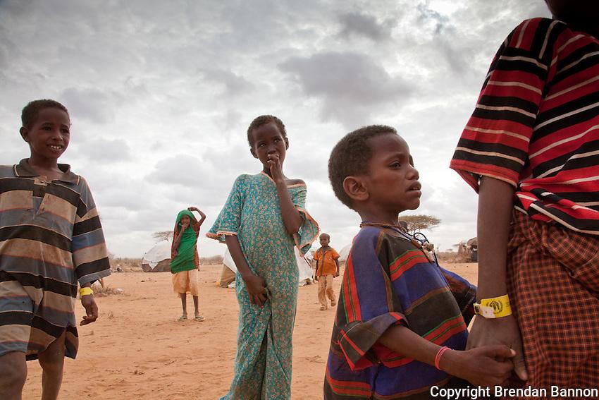 Somali refugee children in Dadaab refugee camp in northern Kenya.