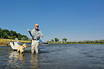 Fly fishing with your dog