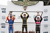 Scott Dixon, Chip Ganassi Racing Honda, Simon Pagenaud, Team Penske Chevrolet, Scott Dixon, Chip Ganassi Racing Honda