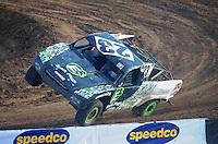 Dec. 11, 2011; Chandler, AZ, USA;  LOORRS pro 4 driver Jerry Daugherty during the Lucas Oil Challenge Cup at Firebird International Raceway. Mandatory Credit: Mark J. Rebilas-