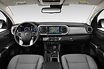 Stock photo of straight dashboard view of a 2020 Toyota Tacoma SR5 4 Door Pick Up