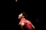 Long Ma of China vs Fan Zhendong of China at the Men's Singles Final match during the Seamaster Qatar 2016 ITTF World Tour Grand Finals at the Ali Bin Hamad Al Attiya Arena on 11 December 2016, in Doha, Qatar. Photo by Victor Fraile / Power Sport Images