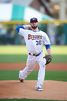 Buffalo Bisons starting pitcher Drew Hutchison (36) during a game against the Norfolk Tides on July 18, 2016 at Coca-Cola Field in Buffalo, New York.  Norfolk defeated Buffalo 11-8.  (Mike Janes/Four Seam Images)