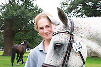 NZL-Caroline Powell with Sinatra Frank Baby (with SUPERGROOM: Louise Turner) during the CCI3* First Horse Inspection at the 2016 Blenheim Palace International Horse Trial. Wednesday 7 September. Copyright Photo: Libby Law Photography