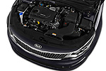 Car stock 2017 KIA Optima Sportswagon Sense 5 Door Wagon engine high angle detail view