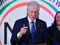 Washington, DC - January 20, 2020:  Former U.S. President Bill Clinton speaks during a breakfast hosted by the National Action Network honoring the legacy of Dr. Martin Luther King, Jr on MLK Day January 20, 2020 at the Mayflower Hotel in Washington, DC.  (Photo by Don Baxter/Media Images International)