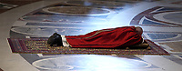 Pope Francis lies down in prayer during the Good Friday Passion of Christ Mass in St. Peter's Basilica, at the Vatican, on April 19, 2019.<br /> UPDATE IMAGES PRESS/Isabella Bonotto<br /> <br /> STRICTLY ONLY FOR EDITORIAL USE
