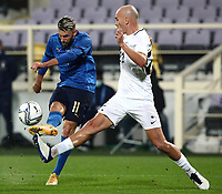 FBL- Friendly  football match Italy vs Estonia at the Artemio Franchi stadium in Florence on November 11, 2020.<br /> Italy's Emerson (l) in action with Estonia's Nikita Baranov (r) during the friendly football match between Italy snd Estonia at the Artemio Franchi stadium in Florence on November 11, 2020. <br /> UPDATE IMAGES PRESS/Isabella Bonotto
