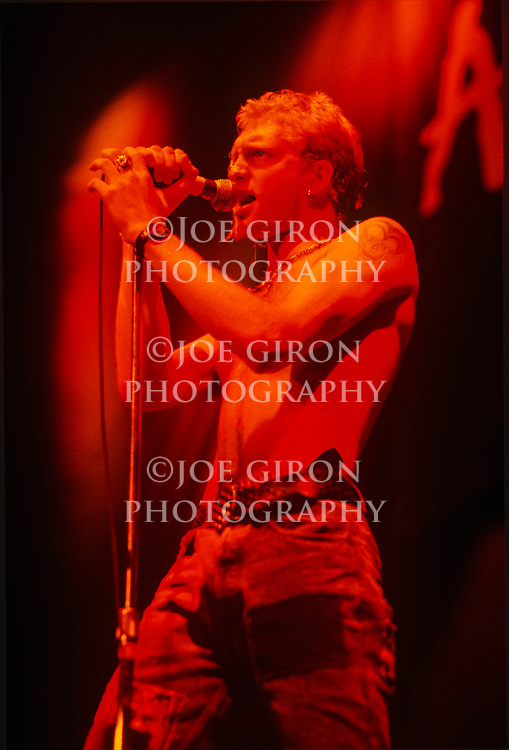 Various live photographs of the rock band,