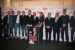 Cristiano Ronaldo,James Rodriguez, Miranda, Thiago and Jorge Mendes during his book presentation in Madrid, Spain. January 22, 2015. (ALTERPHOTOS/Victor Blanco)