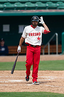 Fresno Grizzlies pinch-hitter Jake Noll (24) hitting during a game against the Reno Aces at Chukchansi Park on April 8, 2019 in Fresno, California. Fresno defeated Reno 7-6. (Zachary Lucy/Four Seam Images)
