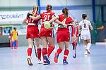 Mannheim, Germany, December 01: During the Bundesliga indoor women hockey match between Mannheimer HC and Nuernberger HTC on December 1, 2019 at Irma-Roechling-Halle in Mannheim, Germany. Final score 7-1. Lisa Mayerhoefer #17 of Mannheimer HC, Isabella Schmidt #31 of Mannheimer HC, +m4+<br /> <br /> Foto © PIX-Sportfotos *** Foto ist honorarpflichtig! *** Auf Anfrage in hoeherer Qualitaet/Aufloesung. Belegexemplar erbeten. Veroeffentlichung ausschliesslich fuer journalistisch-publizistische Zwecke. For editorial use only.