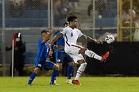 SAN SALVADOR, EL SALVADOR - SEPTEMBER 2: Weston McKennie #8 of the United States passes the ball during a game between El Salvador and USMNT at Estadio Cuscatlán on September 2, 2021 in San Salvador, El Salvador.