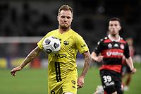 26th May 2021; Bankwest Stadium, Parramatta, New South Wales, Australia; A League Football, Western Sydney Wanderers versus Wellington Phoenix; David Ball of Wellington Phoenix controls the ball