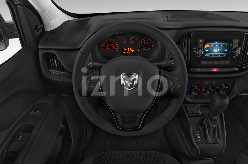 Car pictures of steering wheel view of a 2018 Ram Promaster City Tradesman Cargo 4 Door Cargo Van