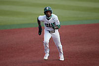 LuJames Groover III (23) of the Charlotte 49ers hustles towards third base against the Old Dominion Monarchs at Hayes Stadium on April 23, 2021 in Charlotte, North Carolina. (Brian Westerholt/Four Seam Images)