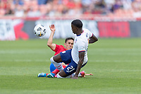 SANDY, UT - JUNE 10: Timothy Weah #21 of the United States during a game between Costa Rica and USMNT at Rio Tinto Stadium on June 10, 2021 in Sandy, Utah.