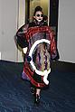 Lady Gaga wearing fashion brand Kansai Yamamoto upon her departure at Haneda International Airport