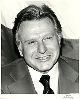 le Ministre des finances du canada Allan J MacEachen, le 23 fevrier 1981.<br /> <br /> PHOTO : Agence Quebec Presse <br /> <br /> <br /> <br /> <br /> <br /> PHOTO :   Agence Quebec Presse