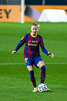6th January 2021; Camp Nou, Barcelona, Spain. La Liga Womens league football FC Barcelona versus Rcd Espanyol; Caroline Graham Hansen controls the ball in midfield during the Liga Iberdrola match
