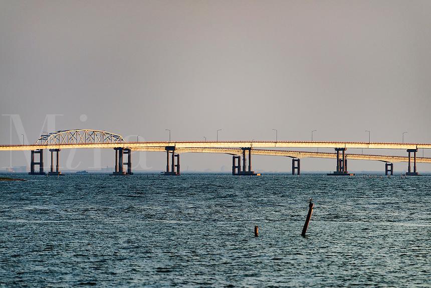 The Chesapeake Bay Bridge, Virginia, USA