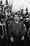National Front members rally and march to the cenotaph for a Remembrance Day rally, London 1977.