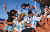 Argentina fans. Day one of the 2020 HSBC World Sevens Series Hamilton at FMG Stadium in Hamilton, New Zealand on Saturday, 25 January 2020. Photo: Dave Lintott / lintottphoto.co.nz