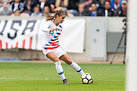Houston, TX - Sunday April 08, 2018: Alex Morgan during an International Friendly soccer match between the USWNT and Mexico at BBVA Compass Stadium.