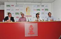Persconferentie Standard Femina de Liege : Denis Franco , Roland Duchatelet , Fery Ferraguzzi en Patrick Wachel<br /> foto Joke Vuylsteke / nikonpro.be