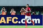 Guangzhou Midfielder Paulinho Maciel celebrating his score during the AFC Champions League 2017 Round of 16 match between Guangzhou Evergrande FC (CHN) vs Kashima Antlers (JPN) at the Tianhe Stadium on 23 May 2017 in Guangzhou, China. (Photo by Power Sport Images/Getty Images)